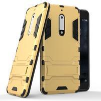 Defender odolný obal na mobil Nokia 5 - zlatý