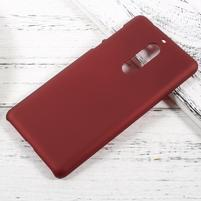 Pogumovaný plastový obal na mobil Nokia 5 - červený