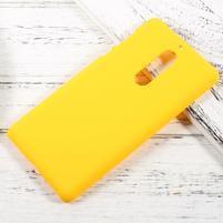 Pogumovaný plastový obal na mobil Nokia 5 - žlutý