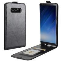 Flipové PU kožené pouzdro na Samsung Galaxy Note 8 - černé