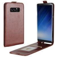 Flipové PU kožené pouzdro na Samsung Galaxy Note 8 - hnědé
