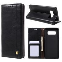 Retro style pouzdro na Samsung Galaxy Note 8 - černé