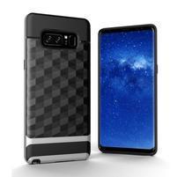 Hybridní 2v1 odolný obal na Samsung Galaxy Note 8 - stříbrný