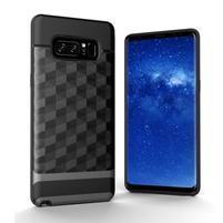 Hybridní 2v1 odolný obal na Samsung Galaxy Note 8 - šedý