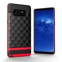 Hybridní 2v1 odolný obal na Samsung Galaxy Note 8 - červený