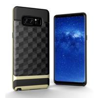 Hybridní 2v1 odolný obal na Samsung Galaxy Note 8 - zlatý