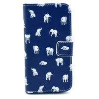 Pěněženkové pouzdro na Samsung Galxy S4 - sloni pro štěstí