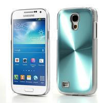 Metalický obal na Samsung Galaxy S4 mini - tyrkysový