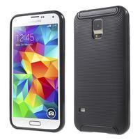 Hybridní odolný obal na Samsung Galaxy S5 - černý