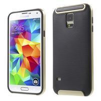Hybridní odolný obal na Samsung Galaxy S5 - zlatý