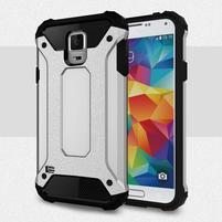 Armory odolný obal na Samsung Galaxy S5 - stříbrný