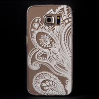 Flower gelový obal na Samsung Galaxy S6 Edge - paisley