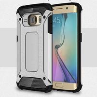 Armory odolný obal na Samsung Galaxy S6 Edge - strieborný