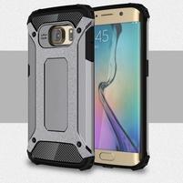 Armory odolný obal na Samsung Galaxy S6 Edge - sivý