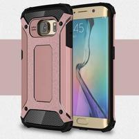 Armory odolný obal na Samsung Galaxy S6 Edge - růžovozlatý