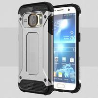 Armory odolný obal na mobil Samsung Galaxy S7 - stříbrný