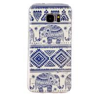 Motive gelový obal na Samsung Galaxy S7 Edge - sloni