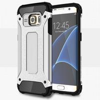 Armory odolný obal na Samsung Galaxy S7 Edge - stříbrný