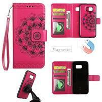 Mandala PU kožené pouzdro na Samsung Galaxy S7 - Rose