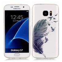 Shelly transparentní gelový obal na Samsung Galaxy S7 - pírko
