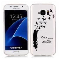 Shelly transparentní gelový obal na Samsung Galaxy S7 - peříčko
