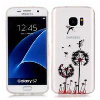 Shelly transparentní gelový obal na Samsung Galaxy S7 - pampelišky