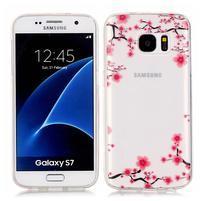 Shelly transparentní gelový obal na Samsung Galaxy S7 - květy švestky