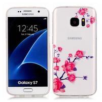 Shelly transparentní gelový obal na Samsung Galaxy S7 - kvetoucí větvička