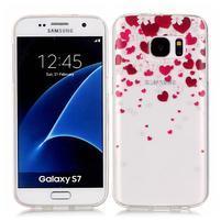 Shelly transparentní gelový obal na Samsung Galaxy S7 - srdíčka