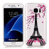 Shelly transparentní gelový obal na Samsung Galaxy S7 - Eiffelova věž