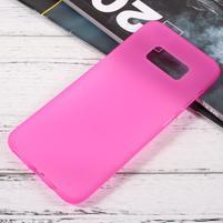 Finger matný gelový obal na mobil Samsung Galaxy S8 - růžový