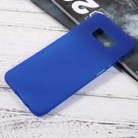 Finger matný gelový obal na mobil Samsung Galaxy S8 - modrý
