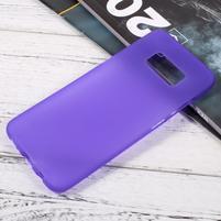 Finger matný gelový obal na mobil Samsung Galaxy S8 - fialový
