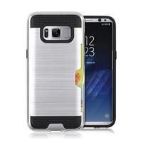 Hybridní 3v1 odolný obal na Samsung Galaxy S8 - stříbrný