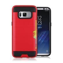 Hybridní 3v1 odolný obal na Samsung Galaxy S8 - červený