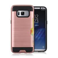 Hybridní 3v1 odolný obal na Samsung Galaxy S8 - růžovozlatý