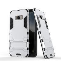 Guard odolný obal na mobil Samsung Galaxy S8 - stříbrný