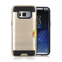 Hybridní 3v1 odolný obal na Samsung Galaxy S8 - zlatý