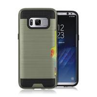 Hybridní 3v1 odolný obal na Samsung Galaxy S8 - vojenský