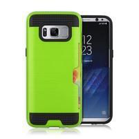 Hybridní 3v1 odolný obal na Samsung Galaxy S8 - zelený