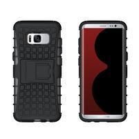 Outdoor odolný obal se stojánkem na Samsung Galaxy S8 - černý