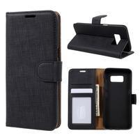 Clothy PU kožené pouzdro na Samsung Galaxy S8 - černé