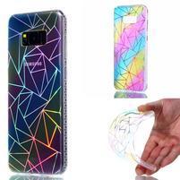 Rainbow gelový obal na mobil Samsung Galaxy S8 Plus - triangl