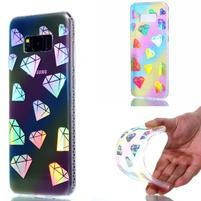 Rainbow gelový obal na mobil Samsung Galaxy S8 Plus - diamanty