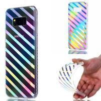 Rainbow gelový obal na mobil Samsung Galaxy S8 Plus - pruhy