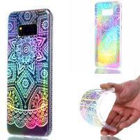 Rainbow gelový obal na mobil Samsung Galaxy S8 Plus - mandala