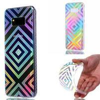 Rainbow gelový obal na mobil Samsung Galaxy S8 Plus - geo