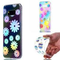 Rainbow gelový obal na mobil Samsung Galaxy S8 Plus - sedmikrásky