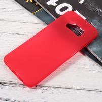 Finger matný gelový obal na mobil Samsung Galaxy S8 - červený