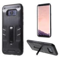 Kick hybridní odolný obal na mobil Samsung Galaxy S8 - černý